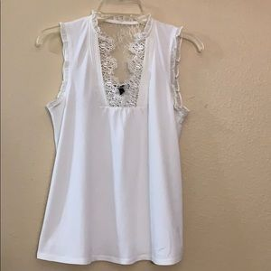 Express lace sleeveless blouse